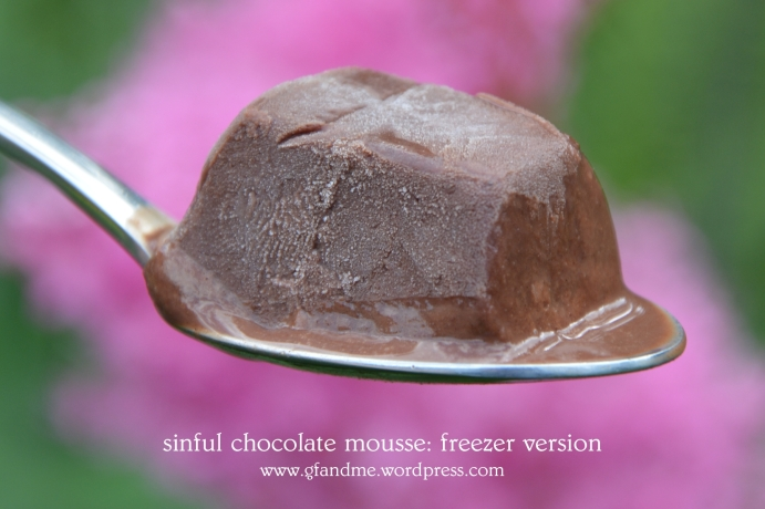 sinful chocolate mousse cake: freezer version