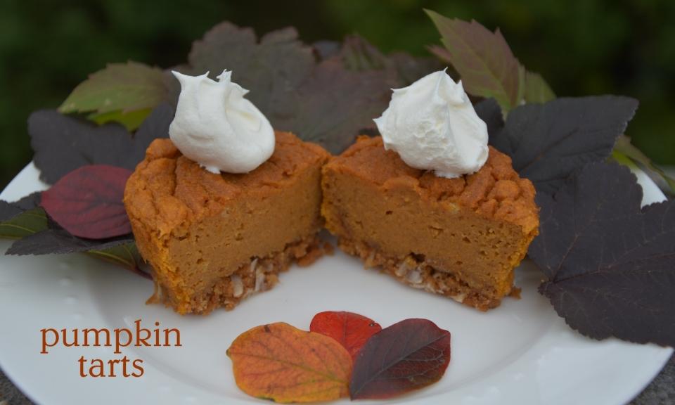 gluten free pumpkin tarts