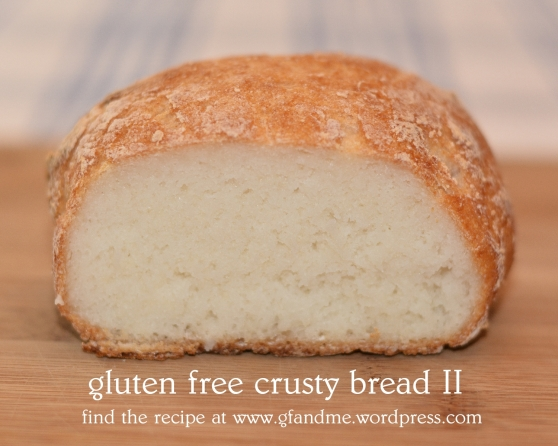gluten free crusty bread II. gf and me 2013.